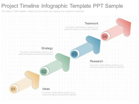 Project Timeline Infographic Template Ppt Sample - Powerpoint