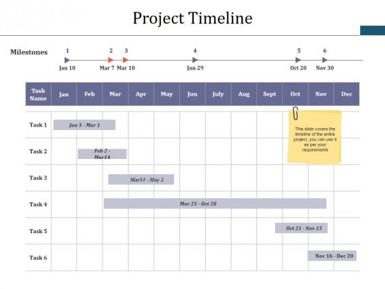 Project Timeline Ppt PowerPoint Presentation Icon Elements