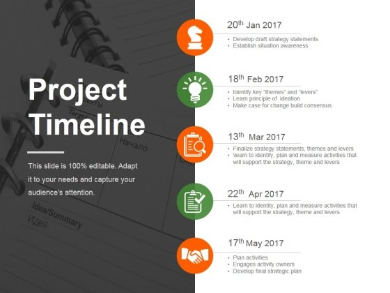 project timeline ppt powerpoint presentation ideas brochure