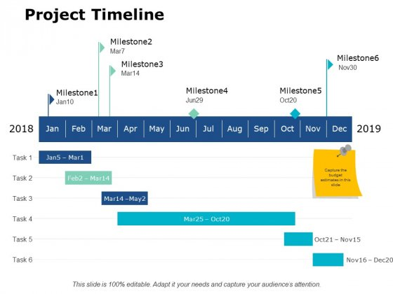 Project Timeline Ppt PowerPoint Presentation Pictures Deck