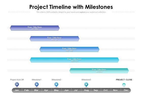 Project Timeline With Milestones Ppt PowerPoint Presentation Portfolio Graphics Download