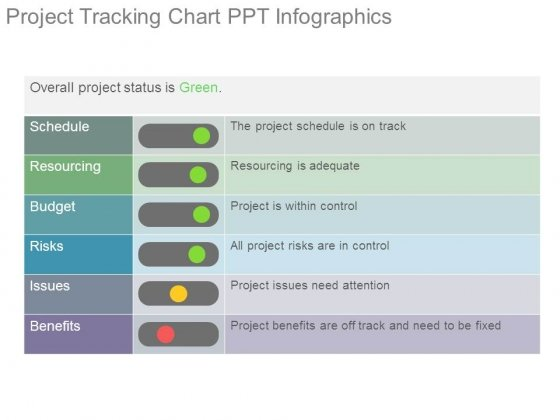 Project Tracking Chart Ppt Infographics