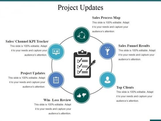 Project Updates Template 1 Ppt PowerPoint Presentation Gallery Portfolio