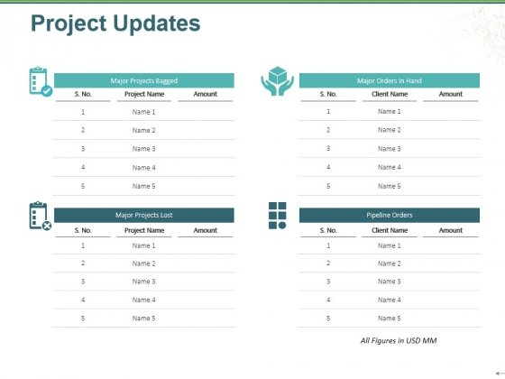 project updates template 1 ppt powerpoint presentation gallery slide