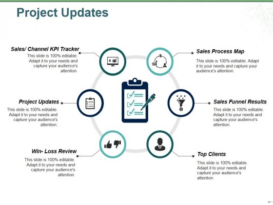 Project Updates Template 2 Ppt Powerpoint Presentation Slides Aids