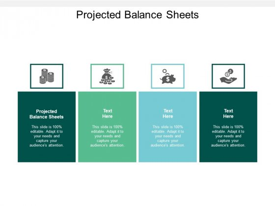 Projected Balance Sheets Ppt PowerPoint Presentation Model Deck Cpb