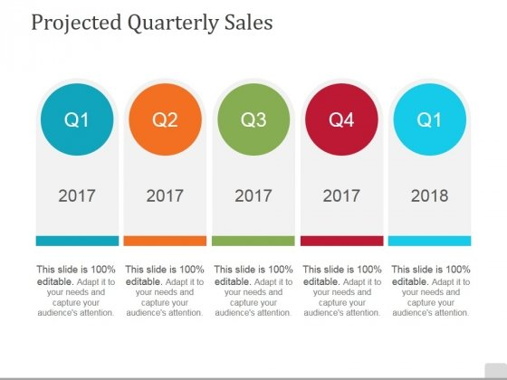 Projected Quarterly Sales Template 2 Ppt PowerPoint Presentation Icon Good