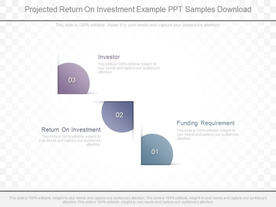 Projected Return On Investment Example Ppt Samples Download