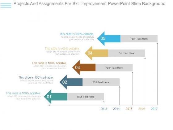 Projects And Assignments For Skill Improvement Powerpoint Slide Background