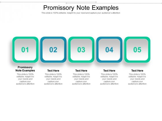 Promissory Note Examples Ppt PowerPoint Presentation Infographics Clipart Images Cpb Pdf