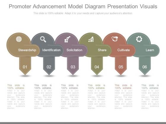 Promoter Advancement Model Diagram Presentation Visuals
