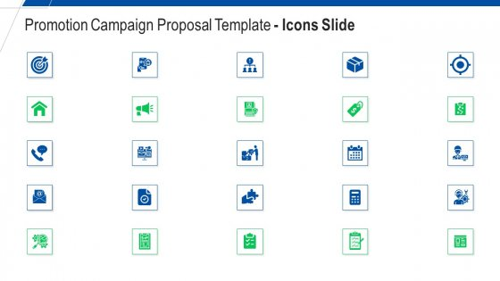 Promotion Campaign Proposal Template Icons Slide Ppt Inspiration Graphics Example PDF