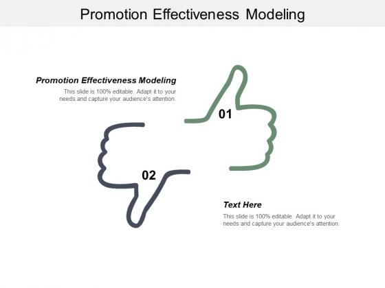 Promotion Effectiveness Modeling Ppt PowerPoint Presentation Infographic Template Layout Ideas Cpb