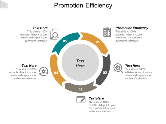 Promotion Efficiency Ppt PowerPoint Presentation Professional Layout Cpb