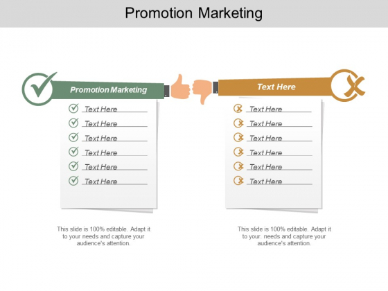 Promotion Marketing Ppt PowerPoint Presentation Styles Rules Cpb