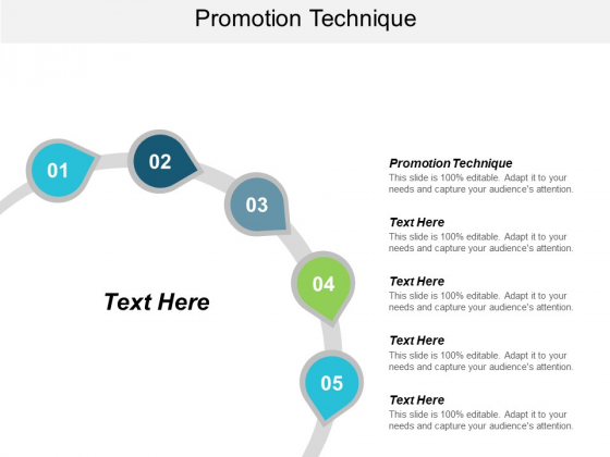 Promotion Technique Ppt PowerPoint Presentation Inspiration Graphic Tips Cpb