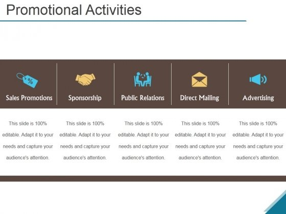 Promotional Activities Ppt PowerPoint Presentation Microsoft