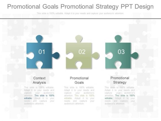 Promotional Goals Promotional Strategy Ppt Design