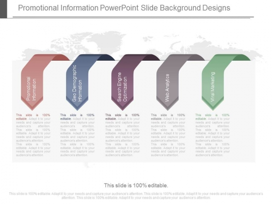 Promotional Information Powerpoint Slide Background Designs