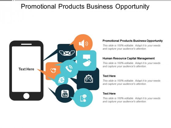 Promotional Products Business Opportunity Human Resource Capital Management Ppt PowerPoint Presentation Professional Layouts