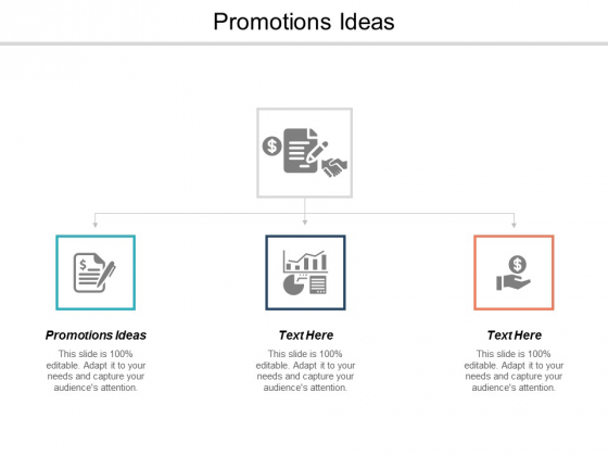 Promotions Ideas Ppt PowerPoint Presentation Infographic Template Example Introduction Cpb