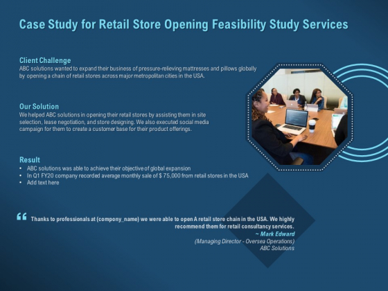 Proof Concept Variety Shop Case Study For Retail Store Opening Feasibility Study Services Professional PDF