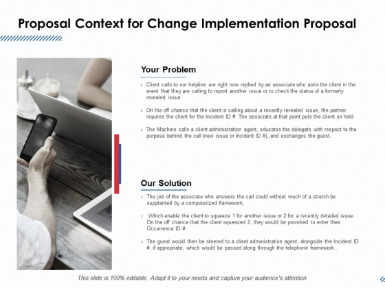 Proposal Context For Change Implementation Proposal Ppt PowerPoint Presentation Icon Samples