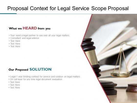 Proposal Context For Legal Service Scope Proposal Ppt PowerPoint Presentation Styles Backgrounds