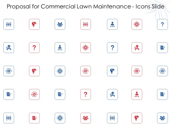 Proposal For Commercial Lawn Maintenance Icons Slide Ppt Gallery Example Introduction PDF