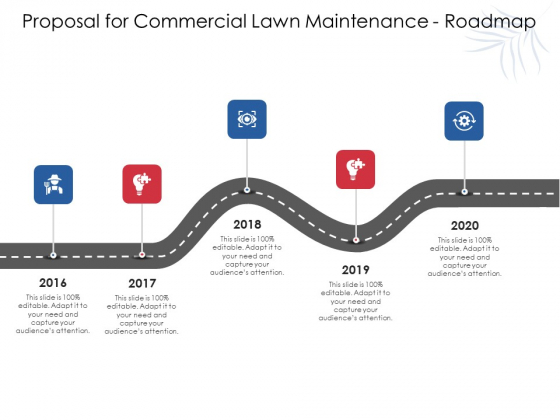 Proposal For Commercial Lawn Maintenance Roadmap Ppt Inspiration Vector PDF
