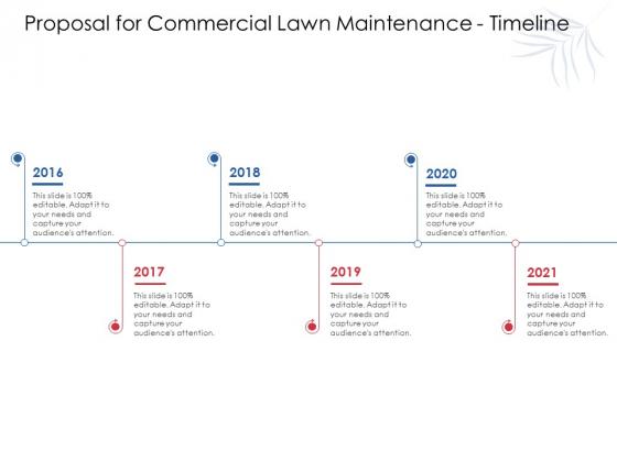 Proposal For Commercial Lawn Maintenance Timeline Ppt Model Gridlines PDF