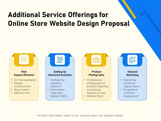 Proposal For Ecommerce Website Development Additional Service Offerings For Online Store Website Design Proposal Sample PDF