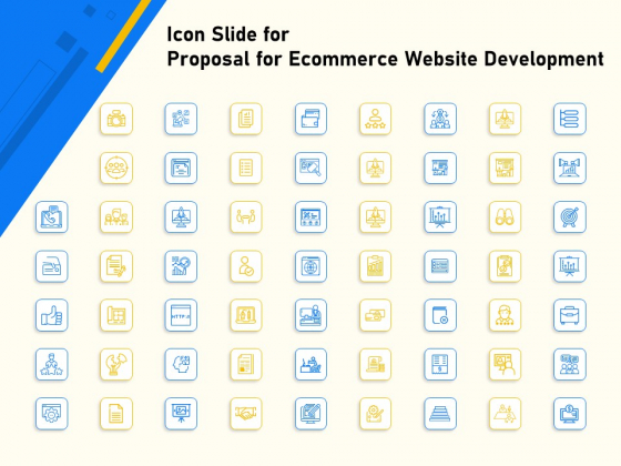 Proposal For Ecommerce Website Development Icon Slide For Proposal For Ecommerce Website Development Elements PDF