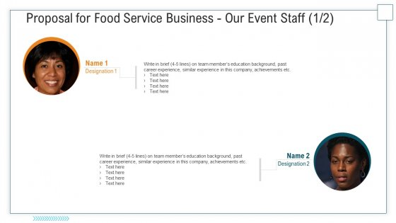 Proposal For Food Service Business Our Event Staff Past Ppt Visual Aids Professional PDF