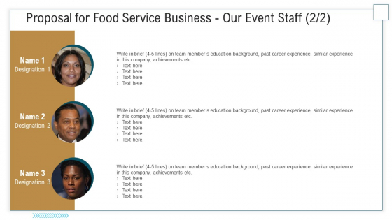 Proposal For Food Service Business Our Event Staff Ppt Professional Guidelines PDF