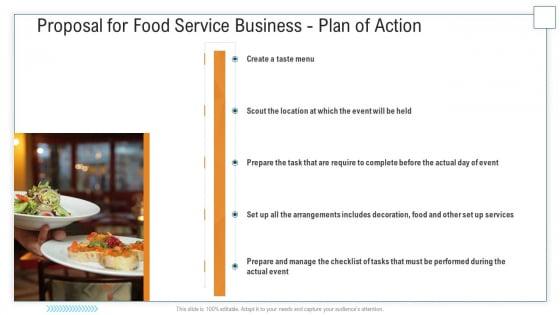 Proposal For Food Service Business Plan Of Action Ppt Portfolio Background Designs PDF