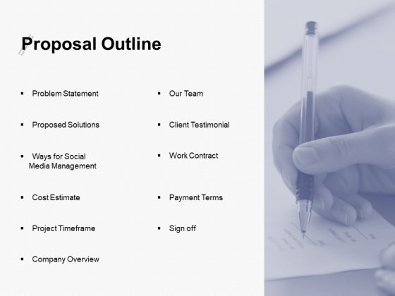 Proposal Outline Timeframe Ppt PowerPoint Presentation Icon Design Inspiration