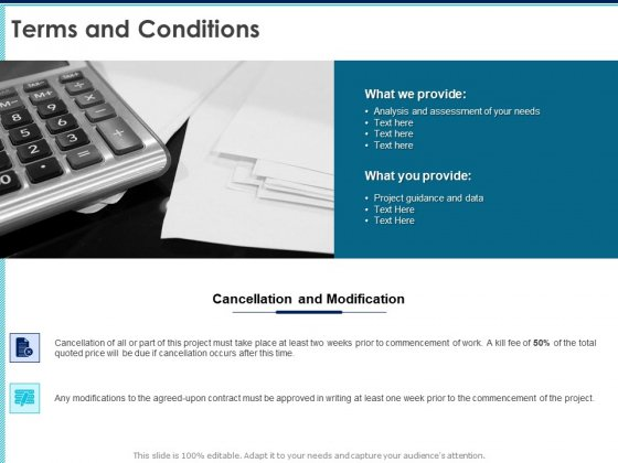 Proposal Template For Accounting Services Terms And Conditions Ppt Outline Slide PDF