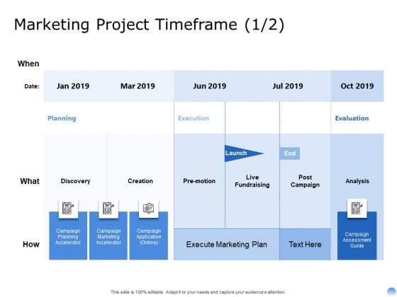 Proposal To Brand Company Professional Services Marketing Project Timeframe Creation Summary PDF