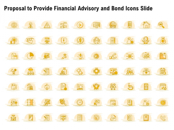 Proposal To Provide Financial Advisory And Bond Icons Slide Sample PDF