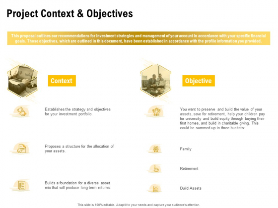 Proposal To Provide Financial Advisory And Bond Project Context And Objectives Topics PDF