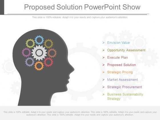 Proposed Solution Powerpoint Show