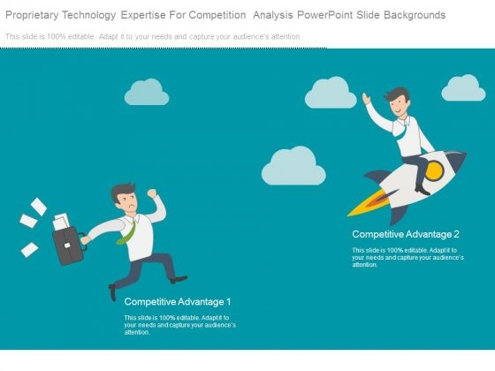 Proprietary Technology Expertise For Competition Analysis Powerpoint Slide Backgrounds