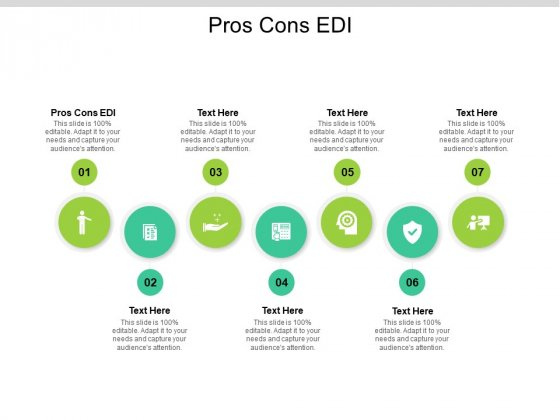 Pros Cons EDI Ppt PowerPoint Presentation Gallery Mockup Cpb Pdf