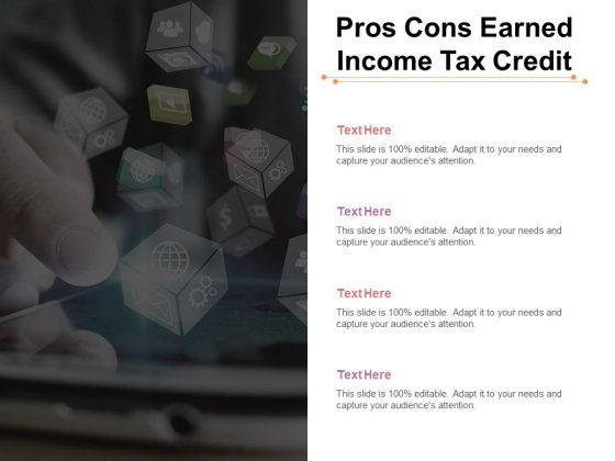 Pros Cons Earned Income Tax Credit Ppt PowerPoint Presentation Gallery Influencers Cpb Pdf