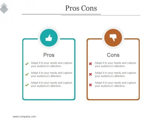 Pros Cons Ppt PowerPoint Presentation Example 2015