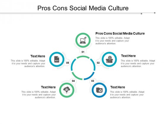 Pros Cons Social Media Culture Ppt Powerpoint Presentation Infographic Template Infographic Template Cpb Powerpoint Templates