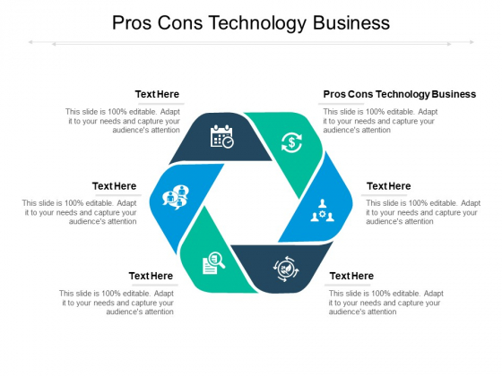 Pros Cons Technology Business Ppt PowerPoint Presentation Summary Microsoft Cpb Pdf