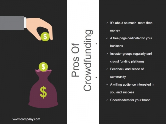 Pros Of Crowdfunding Ppt PowerPoint Presentation Summary Introduction