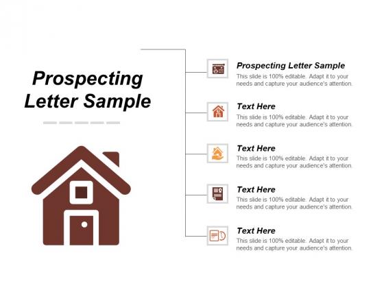 Prospecting Letter Sample Ppt PowerPoint Presentation Outline Good Cpb